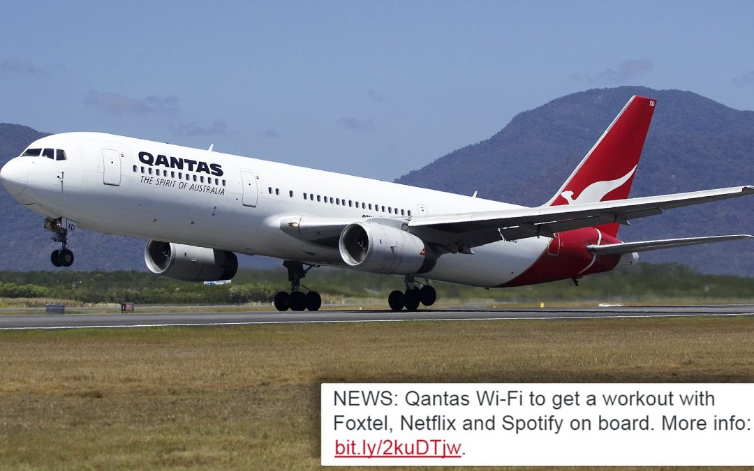 Qantas to provide Netflix, Foxtel and Spotify on Australian domestic flights from this year