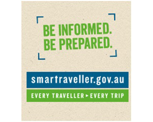 Register your travel information with DFAT