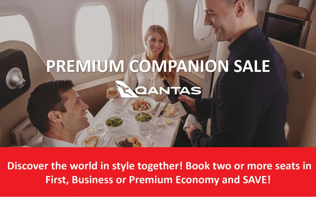 Travel is always better together – Qantas Premium Companion Sale on now