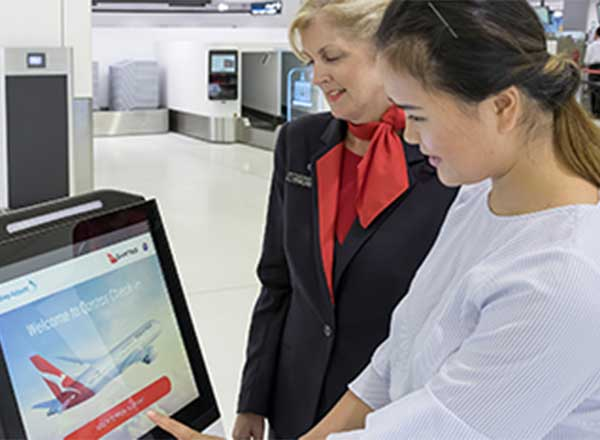 Self-service Check-in at Sydney International Terminal