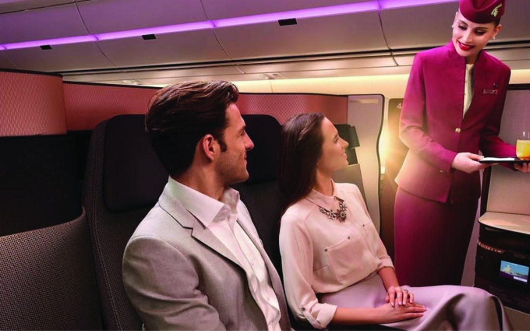 World-class service meets superb design on-board Qatar Airways
