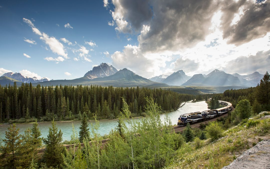 The majesty of the Canadian Rockies meets the comfort of luxury train travel