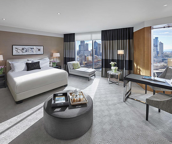 Luxurious hotel rooms at Crown Towers