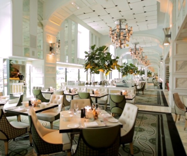 Enjoy breakfast at the Conservatory
